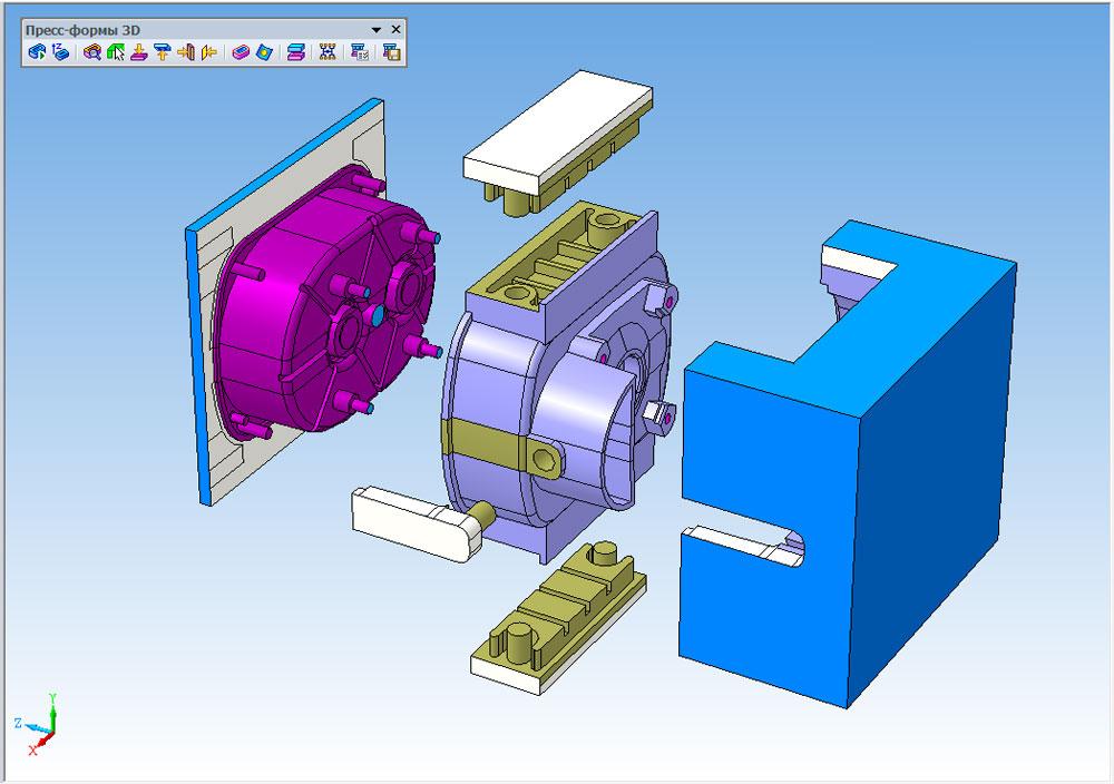 3D модель пресс-формы